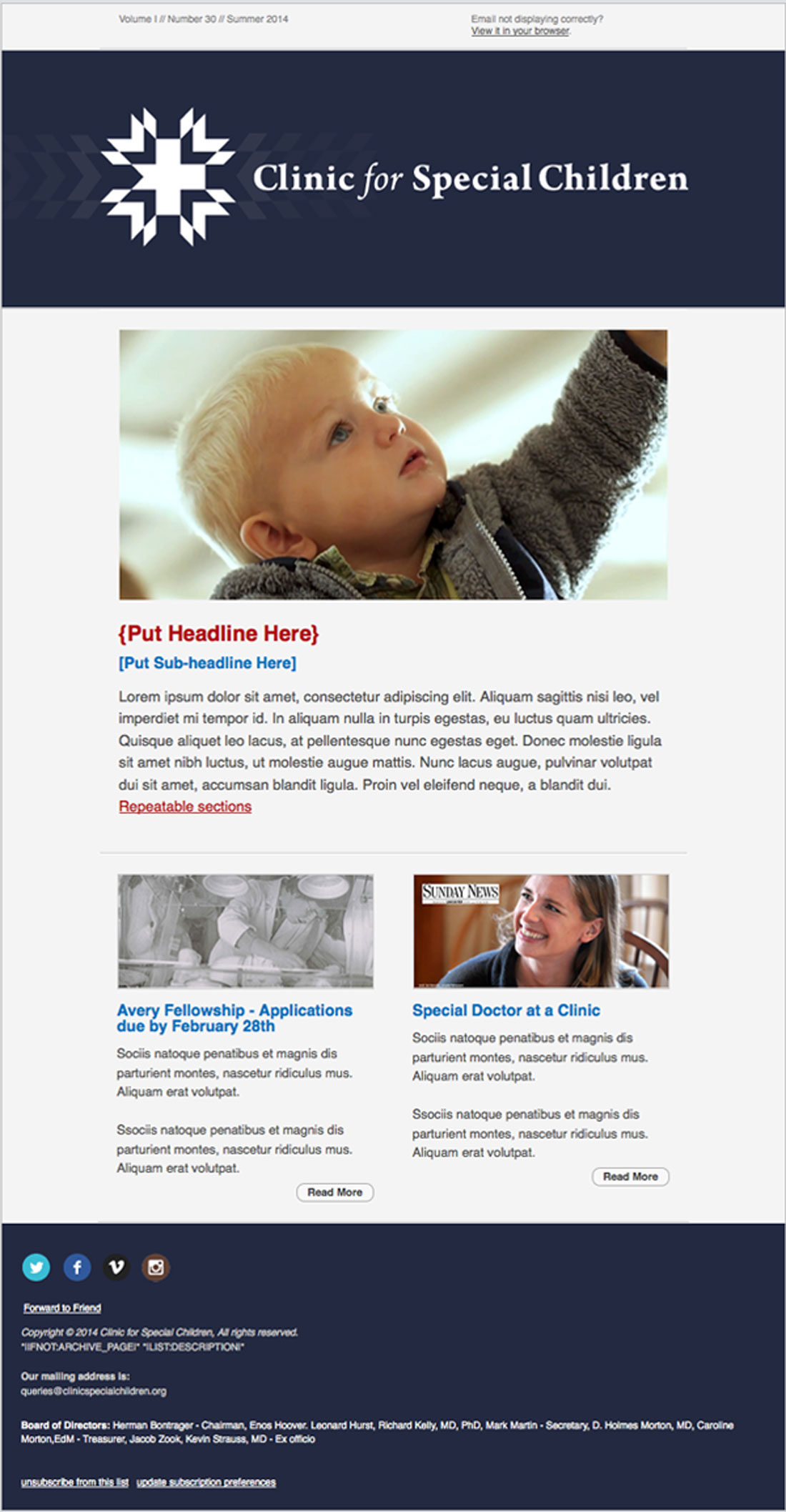 Email newsletter full length